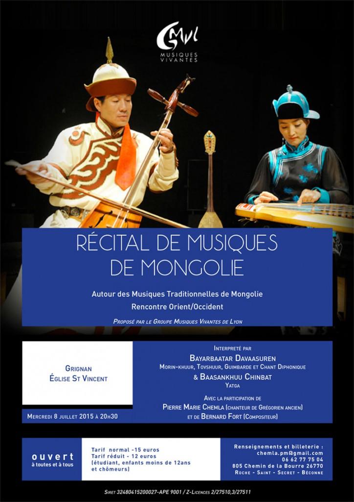 Récital Grignan Musique de Mongolie